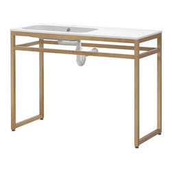 Eva Lilja Löwenhielm - MOLGER/NORRVIKEN Sink with leg frame - Sink with leg frame, white, birch
