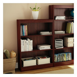 South Shore - South Shore 3 Shelf Bookcase in Royal Cherry - South Shore - Bookcases - 7246766C -Ideal for your binders, books or decorative items, this versatile 3-shelf bookcase can meet your every need. Its warm royal cherry finish and refined lines harmonize seamlessly with virtually any decor. Both functional and attractive with its sleek contemporary styling, this bookcase is sure to enhance the look of any room in your home.