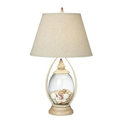 Pacific Coast Lighting - Pacific Coast Lighting 87-6786-05 Seascape Reflections Table Lamp - - Coralline Ivory Finish