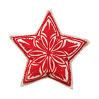 The Sandor Collection - Star Tree Topper - 11 Inch - Bring Hungarian craftsmanship and culture to your home this holiday season with a traditional Hungarian designed Star Tree Topper. Place  this beautiful handcrafted gem on the top of  your tree this year and for many years to come by simply pulling the star's pocket over the top of the tree! The Star Tree Topper is a great way to keep traditions alive! This Tree Topper is approximately 11 inches wide. The Star Tree Topper is made using the traditional Hungarian hand-cut reverse felt applique technique.