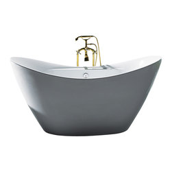 "AKDY - AKDY AK-ZF210 Europe Style White Acrylic Free Standing Bathtub, 67"" - AKDY free standing acrylic bathtubs come in many styles, shapes, and designs. The acrylic material used for tubs is very durable, light weight, and can be molded into a variety of shapes and styles which explain the large selection available in this product category. Acrylic free standing tubs are a cost efficient way to give your bathroom a unique beautiful touch. A bathtub is no longer just a piece of cast iron metal thrown into a bathroom by a builder."