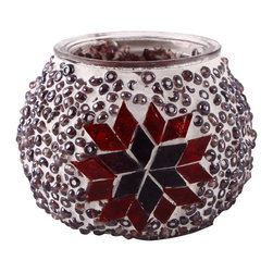 Art-Win Lighting CH11006 Handmade Mosaic Candle Holder, Purple - Handmade in Istanbul, Turkey. Hand-crafted item is produced with glass-on-glass technique. Tradition of centuries is now available for you. Fine handmade mosaic lamps that require years of experience and specialized craftsmanship are carefully manufactured by Art-Win Lighting.