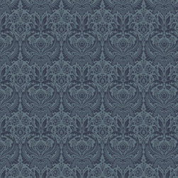 Graham & Brown - Desire Blue Wallpaper - A popular large-scale damask design reworked in four stylish shades for the autumn/winter season.