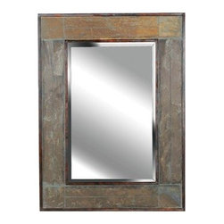 Kenroy Home - Kenroy Home 60089 Rectangular Wall Mirror - Rectangular Wall Mirror with Beveled Glass from the White River CollectionThis rectangular wall mirror features 1 inch decorative bevels along the mirror edge to create a unique, subtle three-dimensional effect. Brackets installed give you the option either landscape or portrait display. Features: