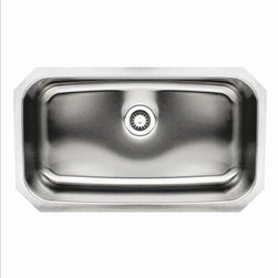 Whitehaus - Whitehaus Whnu2918Rec Noah's Bowl Sink - Single bowl undermount sink