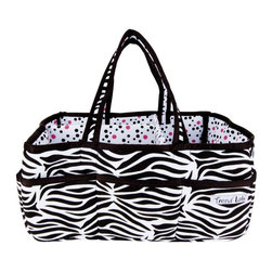 Trend Lab - Trend Lab Zahara Storage Caddy - 102324 - Shop for Diaper Stackers from Hayneedle.com! Add organization to any area of your home with this Trend Lab Zahara Storage Caddy. This lightly padded caddy features a black and white zebra print on the outside with a coordinating paradise pink black and white confetti dot print on the inside and is finished with black satin trim. The caddy has eight outer pockets and a removable T-separator on the inside for maximum versatility. Keep diapers wipes and other necessities tidy while traveling from room to room. This caddy also coordinates with the Zahara collection by Trend Lab.About Trend LabBegun in 2001 in Minnesota Trend Lab is a privately held company proudly owned by women. Rapid growth in the past five years has put Trend Lab products on the shelves of major retailers and the company continues to develop thoroughly tested high-quality baby and children's bedding decor and other items. With mature professionals at the helm of this business Trend Lab continues to inspire and provide its customers with stylish products for little ones. From bedding to cribs and everything in between Trend Lab is the right choice for your children.