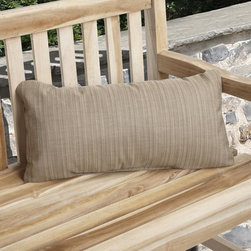 None - Charisma Outdoor Textured Sand Pillow Made with Sunbrella - Add years of comfort and style to your outdoor chair or bench with this textured outdoor patio pillow. It is filled with polyester and foam and covered in sand-colored reversible,stain-resistant,and weather-resistant Sunbrella acrylic fabric.