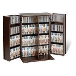 None - Everett Locking DVD/ CD Media Storage Cabinet - Organize your favorite DVDs with this inconspicuously spacious media storage cabinet by Everett. This attractive furniture piece features MDF and composite wood construction with a durable laminate finish, hinged doors and fully adjustable shelves.