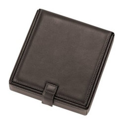 Leather Watch Cufflink Box - 5.75W x 1.5H in. - If you or your loved one is a man of few accessories the Leather Watch Cufflink Box - 5.75W x 1.5H in. may be a fitting gift. Featuring an ultra-bonded leather exterior and luxurious suede-lined interior this handy box has slots for collar stays (and includes a set of four) and compartments for valuables. It's perfect for keeping a pair of cufflinks some rings and a watch organized and safe on a dresser or in your luggage. About Royce LeatherCapitalizing on decades of knowledge and experience Royce Leather produces an array of finely crafted quality leather products in a wide range of leather selections. Established in 1974 Royce's varied collection includes wallets passport jackets brief cases luggage agendas various leather cases and more. When making their innovative leather products Royce Leather incorporates a classic design with rich character enduring quality and the unique beauty of each leather hide. The leather skins are carefully hand selected inspected and finished with pride by skilled craftsmen while they maintain the natural beauty of the leather. Each piece is meticulously constructed with attention to even fine stitching and is tooled using only the finest techniques and materials. The finished Royce product can withstand the tests of time and travel for both a busy personal and professional lifestyle.