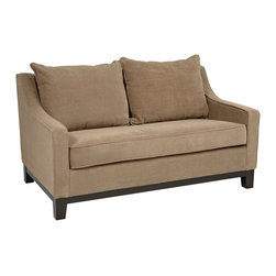 Office Star - Office Star Avenue Six Regent Loveseat in Easy Brownstone - Regent loveseat in Easy brownstone