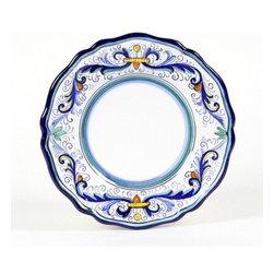 Artistica - Hand Made in Italy - Vecchia Deruta Lite: Salad Plate (Simple Decor - Sim) - Vecchia Deruta Collection: (Old Deruta)
