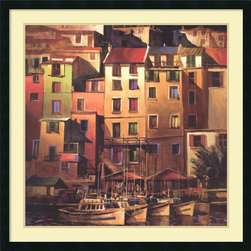 Amanti Art - Michael O'Toole 'Mediterranean Gold' Framed Art Print 34 x 34-inch - Capturing the warm golden tones of a Mediterranean sunset, this print by Michael O'Toole makes a great focal point in your decor.