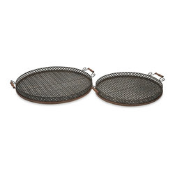 iMax - iMax Regency Oversized Trays - Set of 2 X-2-34247 - Great for entertaining, the Regency oversized trays are perfect for an outdoor barbeque or party.