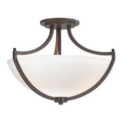 Minka Lavery - Minka Lavery 4932 3 Light Semi-Flush Ceiling Fixture Middlebrook Collec - Three Light Semi-Flush Ceiling Fixture from the Middlebrook CollectionFeatures: