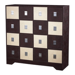 Sterling Industries - Sterling Industries Chocolate / Cream Crocodile Multi Chest (120-005) - Sterling Industries Chocolate / Cream Crocodile Multi Chest (120-005)