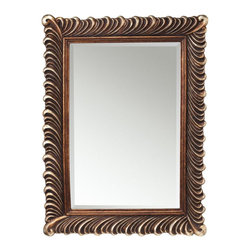 """Kichler - Kichler Wall Mirror, 34.5"""" x 46.5"""" - This Mirror is part of the Quill Collection and has a Hand Painted Finish. It is Damp Rated."""