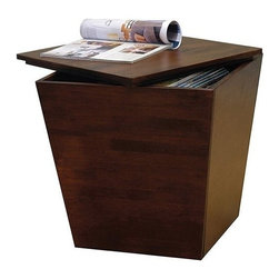Winsome Trading, INC. - Winsome Wood 94418 Mesa Cube End Table Storage Box - Contemporary-style storage cube with removable lid