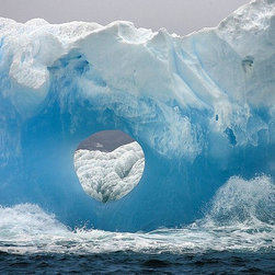 Magic Murals - Ocean Waves and Blue Iceberg Wallpaper Wall Mural - Self-Adhesive - Multiple Siz - Ocean Waves and Blue Iceberg Wall Mural