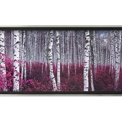 Artcom - Silver Birch Forest, China Artwork - Silver Birch Forest, China is a Framed Art Print set with a EASTMAN Silver Thin wood frame.