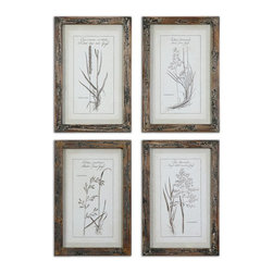 Uttermost - Uttermost Grasses Framed Art Set/4 - 51087 - Uttermost Grasses Framed Art Set/4 - 51087