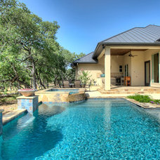 Rustic Pool by Garner Homes
