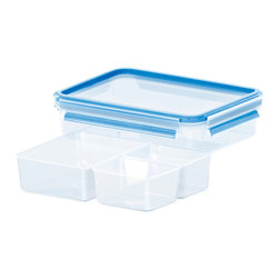 Frieling - Clip & Close, Rectangular With 3 Inserts, 40.5 oz. - 100% sanitary