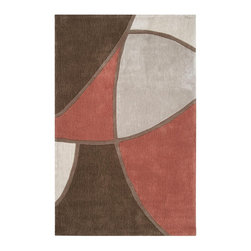 Surya - Surya Cosmopolitan Hand Tufted Brown Polyester Rug, 9' x 13' - Great contemporary designs with a bright color palette and a price in reach of every buyer. Hand tufted from poly-acrylic fibers, these rugs will not shed. Our Cosmopolitan Collection is a beautiful addition to any decor. Imported.Material: 100% PolyesterCare Instructions: Blot Stains