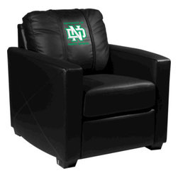 Dreamseat Inc. - University of North Dakota NCAA ND Xcalibur Leather Arm Chair - Check out this incredible Arm Chair. It's the ultimate in modern styled home leather furniture, and it's one of the coolest things we've ever seen. This is unbelievably comfortable - once you're in it, you won't want to get up. Features a zip-in-zip-out logo panel embroidered with 70,000 stitches. Converts from a solid color to custom-logo furniture in seconds - perfect for a shared or multi-purpose room. Root for several teams? Simply swap the panels out when the seasons change. This is a true statement piece that is perfect for your Man Cave, Game Room, basement or garage.