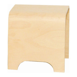 Whitehaus - Aeri 15 in. Freestanding Stool - Made from wood. Natural finish. 15 in. W x 15 in. D x 15.75 in. H (16 lbs.). Warranty