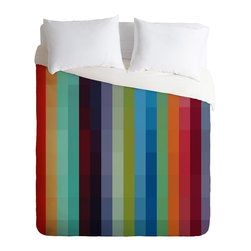 DENY Designs - madart inc City Colors Duvet Cover - Turn your basic, boring down comforter into the super stylish focal point of your bedroom. Our Luxe Duvet is made from a heavy-weight luxurious woven polyester with a 50% cotton/50% polyester cream bottom. It also includes a hidden zipper with interior corner ties to secure your comforter. it's comfy, fade-resistant, and custom printed for each and every customer.