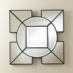 Global Views Arabesque Square Mirror Black - Arabesque Square Mirror-Black