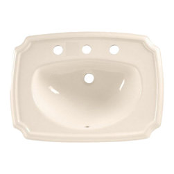 """American Standard - American Standard 0558.017.222 Antiquity Countertop Sink, Linen - American Standard 0558.017.222 Antiquity Countertop Sink, Linen. This countertop sink is designed with a turn-of-the-century detailing that is constructed of vitreous china and features a front overflow and a roomy faucet ledge. This model comes with 8"""" centered faucet mounting holes, and measures 24-1/4"""" by 18"""", with a 5-1/2"""" bowl depth."""