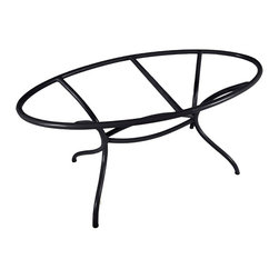 Mathews & Company - Italia Oval Dining Table Base Only - This contemporary Italia Oval Dining Table Base Only allows you to use your own table top such as granite, custom wood, stone, or glass. Pictured in Black finish.