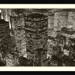 Amanti Art - Mary Poppins over Midtown, NY 2006 Framed Print by Michael Kenna - You have never seen midtown from this angle before. Michael Kenna shares a view of New York that really captures the feel of the big city. This print is ideal for NYC lovers everywhere.