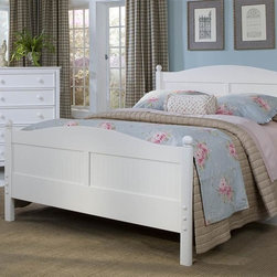 Bolton Furniture - Cottage Queen Bed w Wakefield Drawer Chest in White Finish - Includes Cottage queen headboard, footboard and side rails and Wakefield drawer chest. Bed:. Queen size bed. 64 in. L x 85 in. W x 47 in. H. Drawer chest:. 5 Drawers. Solid frame construction built to last. 4 Sided dovetailed drawer box construction. Under mount self-closing drawer glides. Made of solid wood and veneers. 36 in. W x 19 in. D x 46 in. H (137 lbs.). White finish. Assembly required. 1-Year warranty