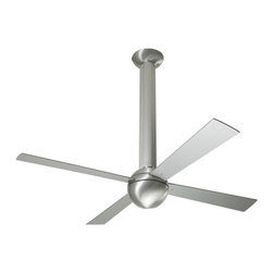 Modern Ceiling Fans - The Stratos boasts being the first truly modern ceiling fan design due. Among it's innovations are the column-like support that takes the place of the down rod used on other fans, allowing it to better assimilate into the various environments it's use would be employed. Most importantly, the Stratos features Ron Rezek's patented, single-piece, die-cast rotor, which continues to be the signature element of nearly all Modern Fan designs. The Stratos, the classy original, would love to be a part of your home or office.