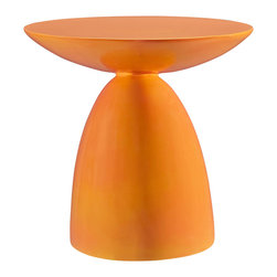 Modway - Flow Side Table EEI-1101 - Orange - Reaching upward in exuberance to welcome each moment, Flow is the perfect side table to maximize your rush of ideas. A complete accent piece for your beverage of choice or electronic device, Flow can be swiftly positioned for both spotaneous and planned events. Made of sturdy fiberglass and a compact design, this is a unique side table that will fit into any niche with finesse.
