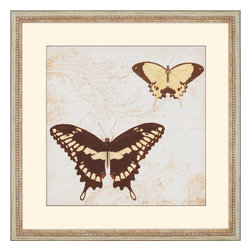 Paragon - Jardin des Papillons I - Framed Art - Each product is custom made upon order so there might be small variations from the picture displayed. No two pieces are exactly alike.