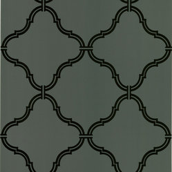 Estate Brown Moroccan Grate Wallpaper