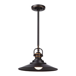 Artcraft Lighting - Artcraft Lighting AC1471BZ Burnished Bronze 1 Light PendantHeath Collection - Classic styling never goes out of style.
