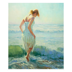 Steve Henderson Fine Art - Gathering Thoughts Artwork -- Original Oil Painting - Original oil painting on canvas, 36 inches high by 30 inches wide. Gallery wrapped -- no frame needed -- and ready to hang. This is the original oil painting of a licensed work.