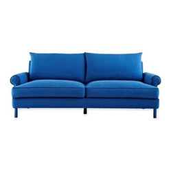 Design by Conran Brooke 84-inch Sofa, Cobalt Blue