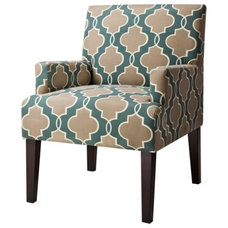 Dolce Upholstered Accent Arm Chair - Luca Teal G... : Target