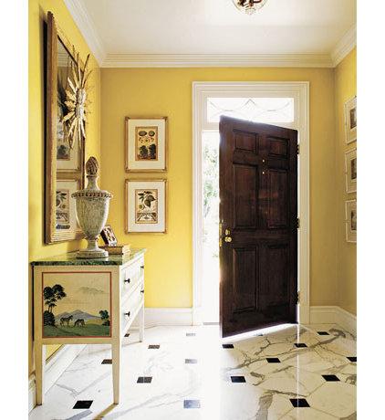 Traditional  yellow foyer
