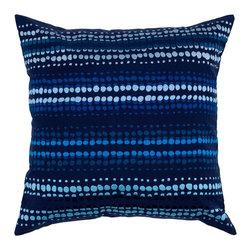 """Indigo Blue Pillows, Set of 2 - *20"""" x 20"""" Pillow with Hidden Zipper"""