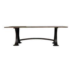 Mortise & Tenon - Roberto Dining Table - Industrial dining table influenced by 1920's machine and lathe bases