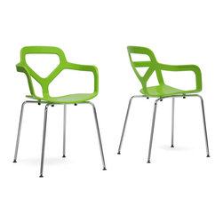 Wholesale Interiors - Plastic Dining Chair - Set of 2 - The vibrancy of the famous Floridian city lends itself well to our Miami Modern Dining Chair.