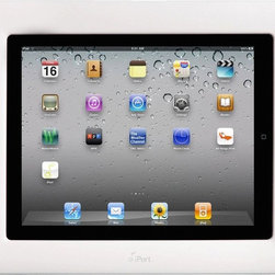 iPort CM-IW2000 - The CM-IW2000 allows an Apple iPad to be used as an in-wall touch panel providing continuous charging of the iPad and allowing a connection to a locally available Wi-Fi network.  Supporting a variety of downloadable applications for home automation control and common applications such as weather, stocks and news; the CM-IW2000 provides the user with control of audio, video, lighting and climate on the mounted iPad when the control application is connected to a compatible control system.