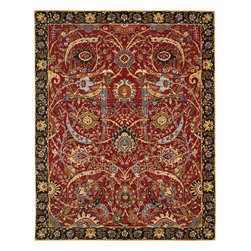 """Nourison - Nourison Rhapsody RH015 (Red) 8'6"""" x 11'6"""" Rug - The Rhapsody collection is a modern mix of European and Persian textile traditions in lively, sophisticated patterns and colors."""