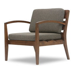 Bryght - Mier Hazel Lounge Chair - The Mier lounge chair is simple yet modern in its appeal. A lovely wood frame with wide slats sets the tone for a great looking chair that's comfy with detachable cushions. This lounge chair looks great with the Mier Love seat!